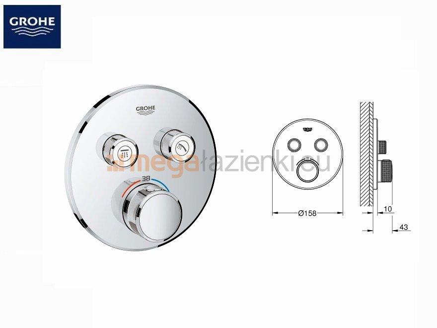 Smartcontrol zestaw podtynkowy prysznicowy Grohe Smart Control 29119000
