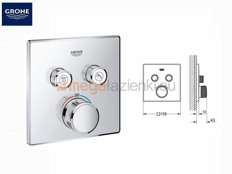 Smartcontrol zestaw podtynkowy prysznicowy Grohe Smart Control 29124000