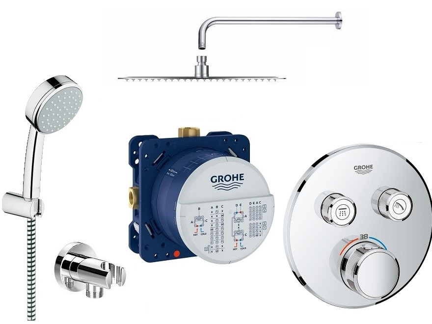 Zestaw podtynkowy prysznicowy Grohe smart Control